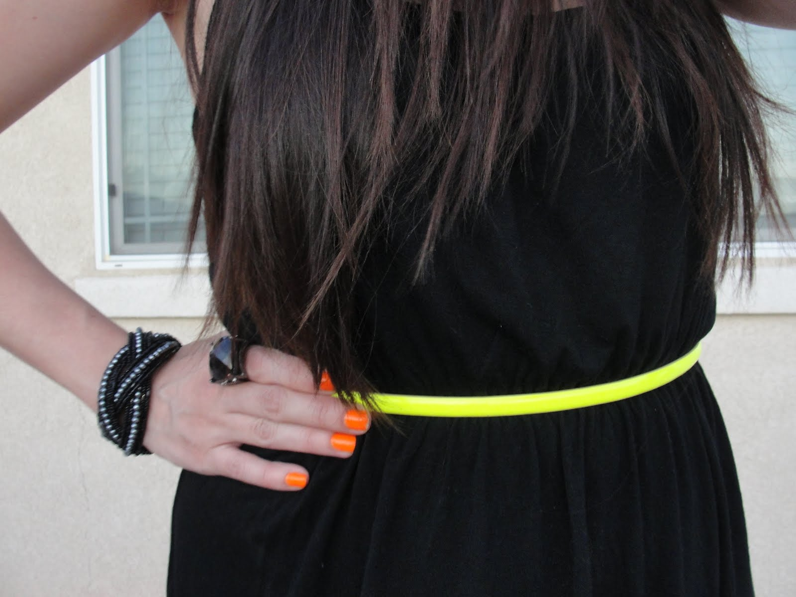 Black dress yellow accessories - High Low Black Dress Forever21 Neon Belt Target Kaylen Yellow Heels Shoemint Accessories F21 X S And O S