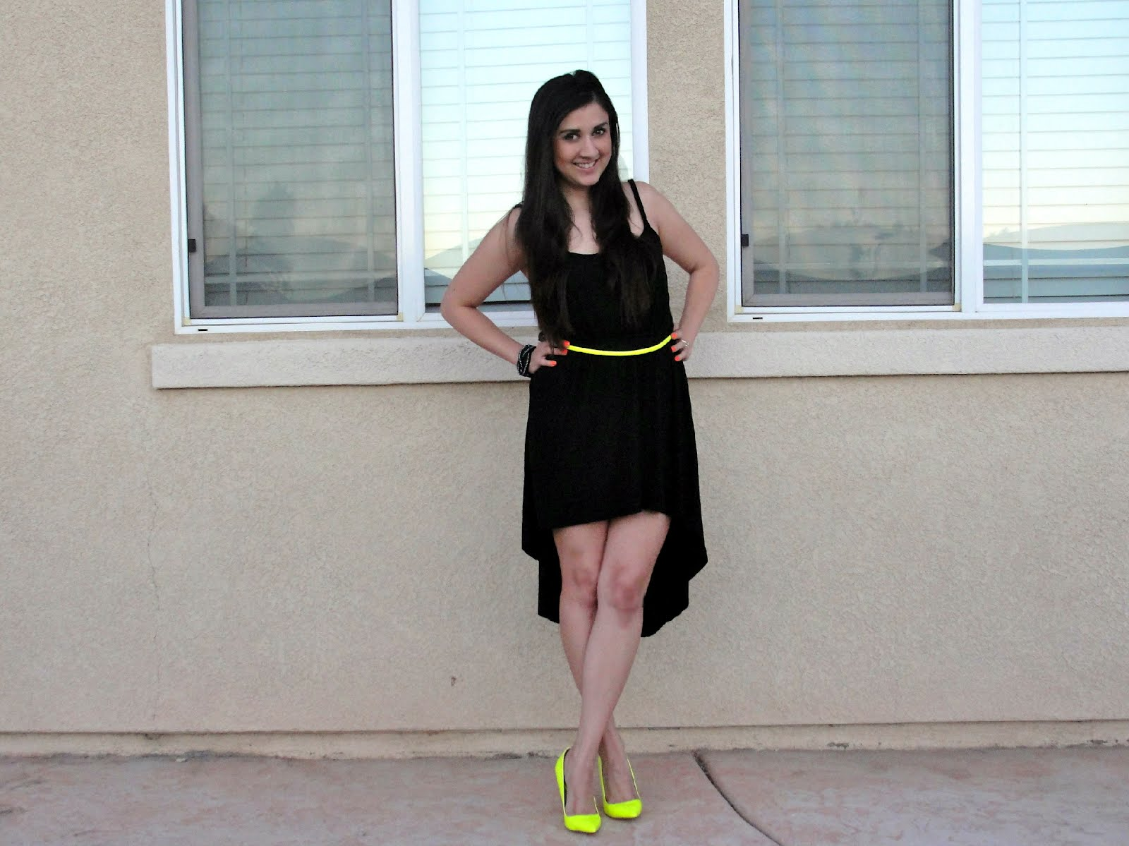 Black Dress Yellow Heels